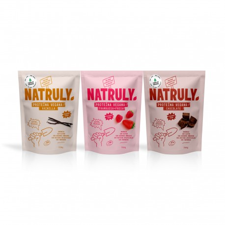 Chocolate, Vanilla & Strawberry Vegan Protein Pack 3x350g