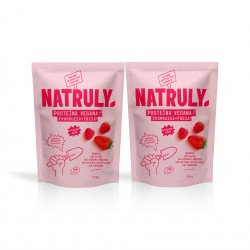 Pack Strawberry & Raspberry  Vegan Protein. 2x350g