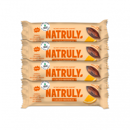 Barrita Energética de Cacao y Naranja   BIO Pack 4 uds