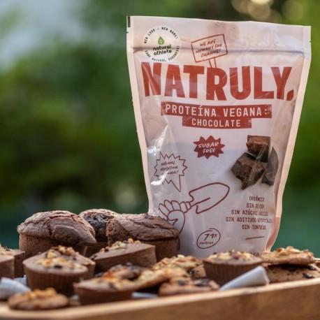 Proteína vegana sabor chocolate
