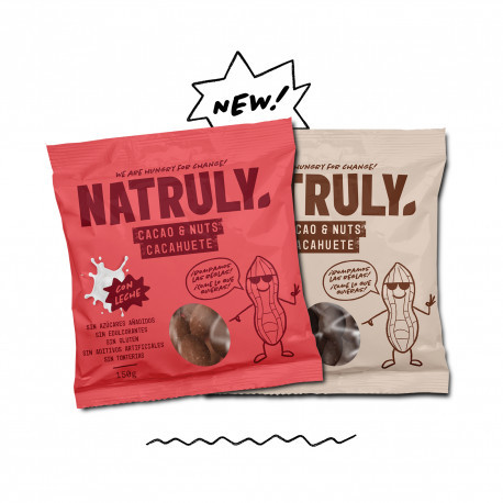 Pack 2x Cacao & Nuts - Negro y Leche | 150gx2